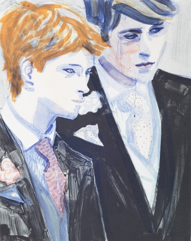 Elizabeth Peyton  William and Harry, 2000  color lithograph  24 x 19 inches  Edition 199 of 350  signed bottom right  $9,000