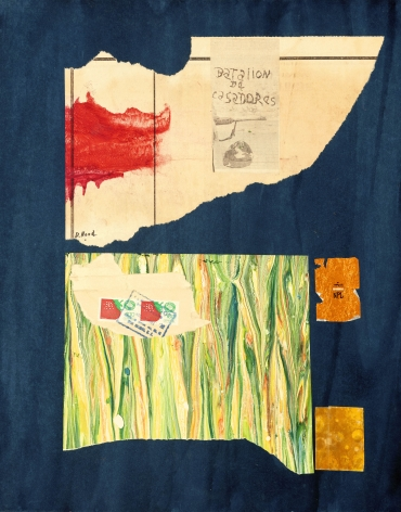 Dorothy Hood  Crossing the Border, 1982-1997  collage on mat  20 x 16 inches
