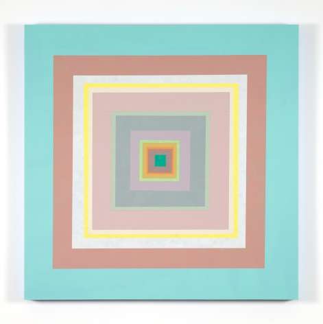 Gary Lang CONCENTRICSQUARE , 2020 acrylic on panel 30 x 30 inches