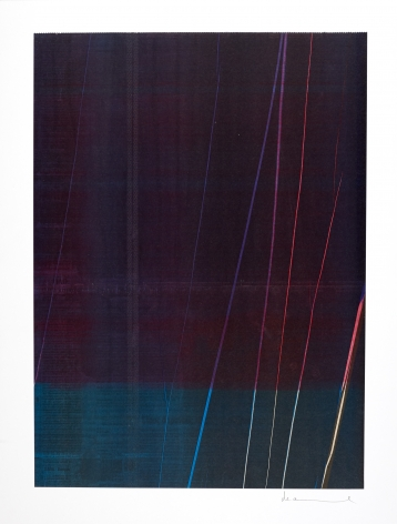 Anne Deleporte  Lightning, 2019 ink on paper mounted on Arches paper 23 3/8 x 17 3/4 inches