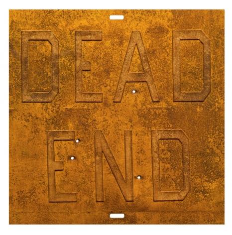 Ed Ruscha,  Rusty Signs - Dead End 2, 2014,  Mixografía® print on handmade paper,  24 x 24 inches,  edition of 50,  Publisher: Mixografía