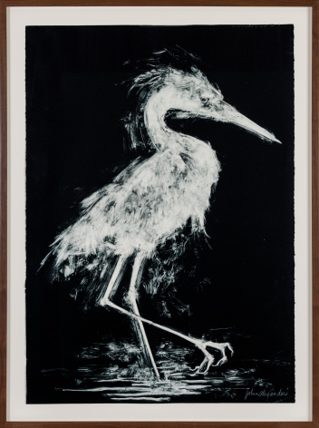 John Alexander  High Stepping, 2017  monotype on Fabriano Rosaspina paper  paper: 39 x 27 1/2inches  frame: 44 1/2 x 33 1/2 inches