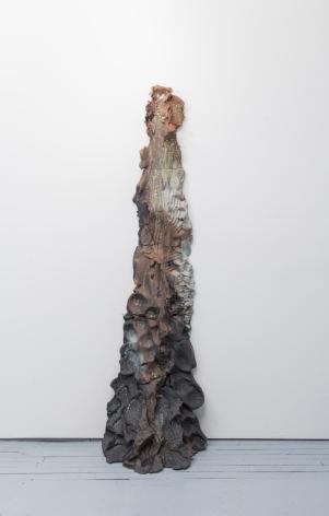 Brie Ruais Red Push 3 (130lbs), 2017 glazed stoneware 72 x 23 x 14 inches