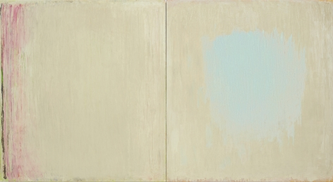 Christopher Le Brun Untitled 15.6.20, 2020 oil on two canvases 47 1/2 x 87 inches