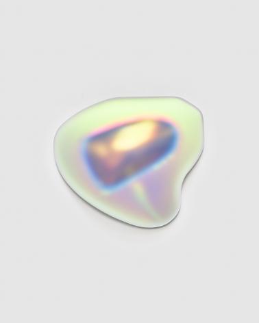 Gisela Colon  Liquid Triangle (Palladium), 2020 blow-molded acrylic 20 x 20 x 8 inches