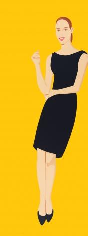 Alex Katz  Black Dress V (Ulla), 2015  31-color silkcreen  80 x 30 inches  Edition of 35  $25,000