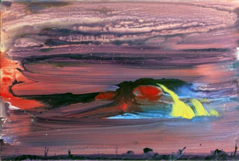 Brendan Cass  Dripping Springs, 2011  acrylic on canvas  24 x 36 inches
