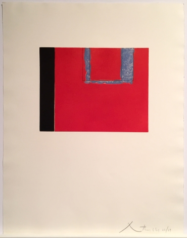 Robert Motherwell  Untitled, 1975  aquatint, lift-ground etching and aquatint and soft-ground etching on Rives BFK paper  Paper Dimensions: 25 3/4 x 19 5/8 inches  Edition 22 of 69  lower right  $8,800