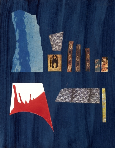 Dorothy Hood  Abstract, 1982-1997  collage on mat  20 x 16 inches