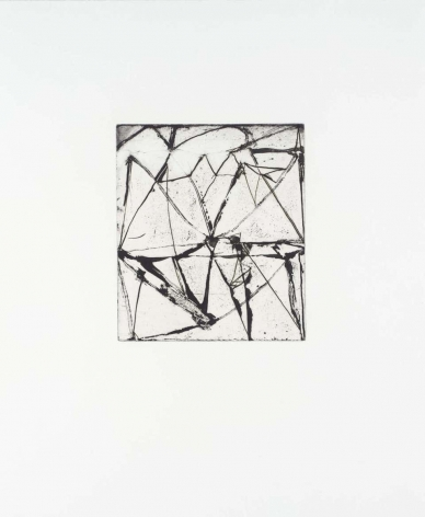 Brice Marden  Etchings to Rexroth #24, 1986  etching and sugarlift aquatint  16 x 19 1/2 inches  Edition PP3 of 45  $8,000