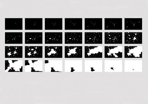 Anne Deleporte Bullets 28, 2004 28 photographs mounted under plexiglass 11 3/4 x 17 3/4 in.