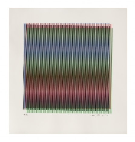 Carlos Cruz-Diez Untitled, 2012 serigraph paper: 22 x 23 5/8 inches frame: 23 1/2 x 25 1/4 inches Edition 26 of 30