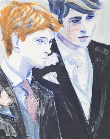 Elizabeth Peyton, William and Harry, 2000; color lithograph, 24 x 19 inches, edition 199 of 350, signed bottom right