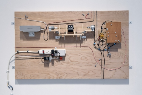 Jeff Shore | Jon Fisher  Clockworks 1, 2016  mixed media  26 3/4 x 40 inches  unique variation 1 in an edition of 6