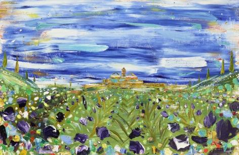 Brendan Cass  Provence, 2018  acrylic on canvas  55 x 84 inches