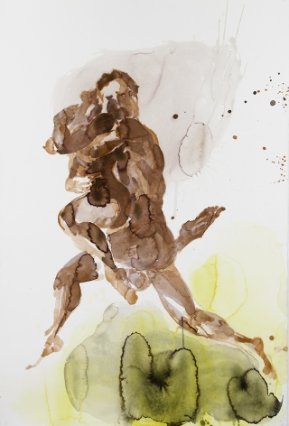 Eric Fischl  Dancer Suite (Red Couple), 2013  pigment print on Somerset paper  paper: 40 x 27 inches  frame: 43 1/2 x 31 inches  Edition of 25  $5,000
