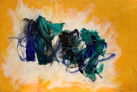 Cleve Gray Untitled, 1999 acrylic on Arches paper paper: 41 x 60 inches frame: 46 x 65 inches signed and dated lower right