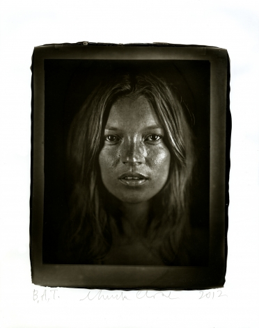 Chuck Close  Kate, 2012  woodburytype  paper: 14 x 11 inches  frame: 16 1/2 x 13 1/2 inches  Edition of 10  $15,000
