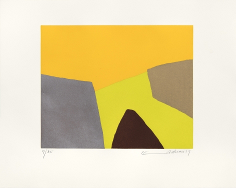 Etel Adnan Vue sur la mer, 2017 etching 14 15/16 x 18 7/8 inches Edition 19 of 35 signed and dated bottom right front in margin