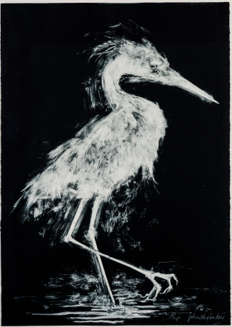 John Alexander  High Stepping, 2017  monotype on Fabriano Rosaspina paper  39 x 27.5 inches  Inquire