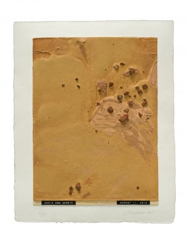 Julião Sarmento  Curiosity's Eye (Aeria and Arabia), 2013  Mixografia® print on handmade paper  18.75 x 14.75 inches (47.6 x 37.5 cm)  edition of 25  Publisher: Mixografía  $1,400  Inquire