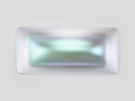 Gisela Colon  Supra Rectanguloid (Sterling), 2020  blow-molded acrylic  42 x 90 x 12 inches