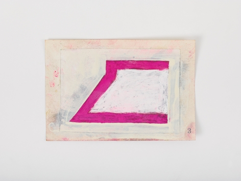 Ted Stamm 3 (8 Woosters), 1979 collage on paper paper: 4 x 6 inches frame: 6 7/16 x 8 3/8 inches