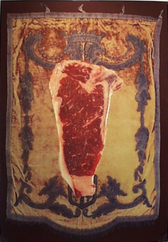 Ford Beckman Red Meat (Gold Velvet Background), 1994 serigraph 59 x 40 inches (FBk-42)
