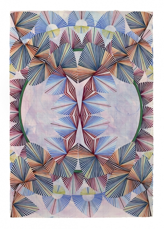Mara Held Straight Lines 6, 2020 gouache and egg tempera on paper paper: 38 3/16 x 26 3/8 inches
