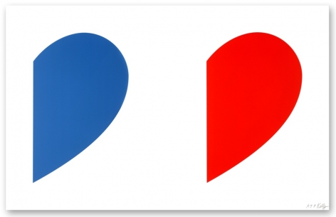 Ellsworth Kelly  Blue Curve/Red Curve, 2014  2 color lithograph  30 x 47 3/8  inches  Edition 26 of 50  $18,000