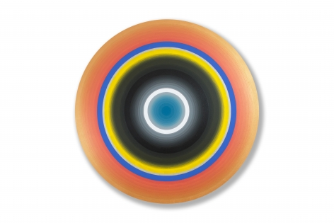 Gary Lang  REDRISINGTEN, 2016  acrylic on canvas  54 inches diameter