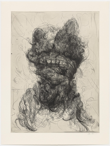 Glenn Brown Half-Life #3 (after Rembrandt), 2017 a series of 6 etchings on paper paper: 35 x 26 3/4 inches frame: 40 1/4 x 32 inches Edition 14 of 35 signed by the artist and numbered on the reverse (GB-4)