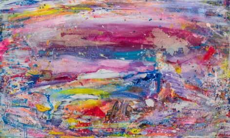 Brendan Cass  Umbria, 2008  acrylic on canvas  54 x 90 inches  Inquire