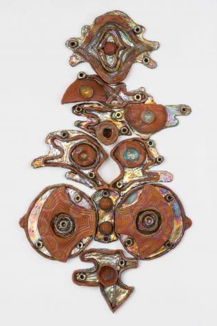 Julia Kunin Labrys Queen, 2019 ceramic 49 x 28 x 4 inches