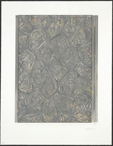 Jasper Johns  Within, 2007  intaglio in 10 colors on Hahnemuhle paper  frame: 49 1/2 x 39 3/4 inches  image: 42 1/4 x 32 1/2 inches  Edition of 61  $65,000