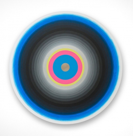Gary Lang  BLUELIGHTSIX, 2015  acrylic on canvas  54 inches in diameter