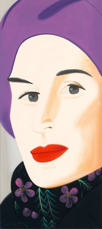 Alex Katz  Purple Hat (Ada), 2017  archival pigment inks on Crane Museo Max 365 gsm paper  46 x 21 inches  Edition of 125