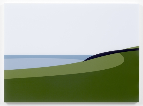 Julian Opie  Lantivet Coast. From Cornish Coast 2, 2017  digital print on Epson Premium Glossy 250 gsm photo paper, Diasec bonded on clear acrylic mounted to a white acrylic backing  17 3/4 x 24 1/4 x 1 1/8 inches  Edition of 20  $8,000