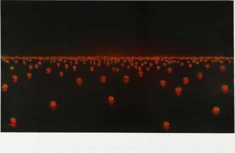 Katsumi Hayakawa Red Lights, 2017 acrylic on paper on wood panel 26 x 40 inches