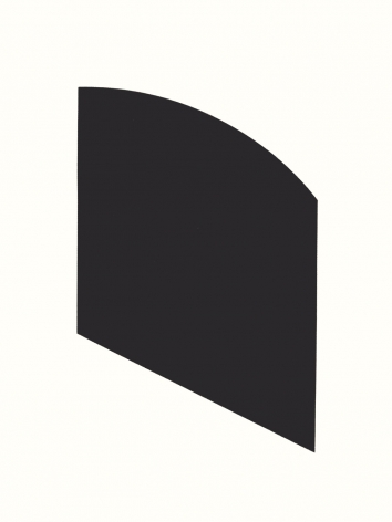Ellsworth Kelly  Black, 2003  framed lithograph on wove paper  paper: 28 3/4 x 22 3/8 inches  frame: 30 1/4 x 23 5/8 inches  Edition 19 of 45  Signed and numbered in pencil  $16,000