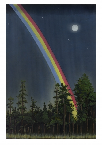 Kent Dorn Night Rainbow, 2014 acrylic and oil on canvas over panel 72 x 48 inches