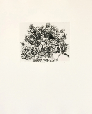 Karin Broker Pricked Off (From Dark Talk Portfolio), 2003   photogravure 26 1/4 x 22 1/4 inches Edition of 12