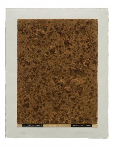 Julião Sarmento  Curiosity's Eye (Tithonius Lacus), 2013  Mixografia® print on handmade paper  18 3/4 x 14 3/4 inches   edition of 25  Publisher: Mixografía