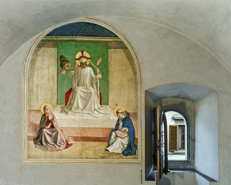 Robert Polidori The Mocking of Christ by Fra Angelico, Cell 7, Museum of San Marco Convent, Florence, Italy, 2010 archival pigment print mounted to dibond paper: 44 x 54 inches Edition of 5, with 2 APs