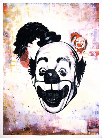 Ford Beckman Clown Portraits (Clown Portrait with Steak over Captain Crunch), 1994 serigraph 58 1/2 x 42 1/2 inches (FBk-40)