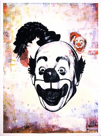 Ford Beckman Clown Portraits (Clown Portrait with Steak over Captain Crunch), 1994 serigraph 58 1/2 x 42 1/2 inches (FBk-40)