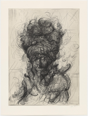 Glenn Brown Half-Life #4 (after Rembrandt), 2017 a series of 6 etchings on paper paper: 35 x 26 3/4 inches frame: 40 1/4 x 32 inches Edition 14 of 35 signed by the artist bottom right front in margin and numbered on the reverse (GB-5)