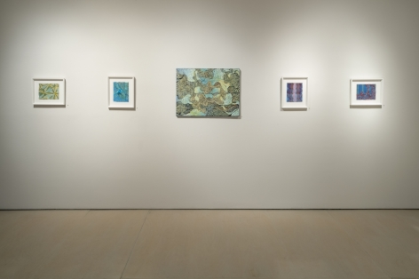 Installation view of Mara Held: Recent Paintings & Works on Paper at McClain Gallery, 2015