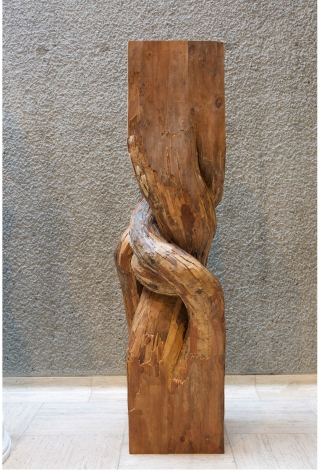 Henrique Oliveira Sentinel, 2018 plywood 87 1/2 x 27 1/2 x 23 5/8 inches