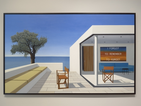 Tom McKinley  Memory, 2019  oil on panel  44 x 72 inches